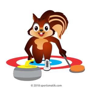 Gillu practicing Curling