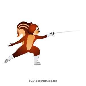 Gillu practicing Fencing