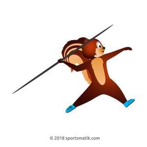 Gillu practicing Javelin Throw