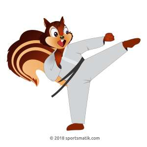 Gillu practicing Karate