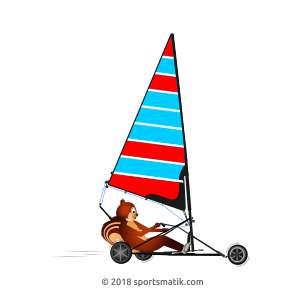 Gillu practicing Land Yachting