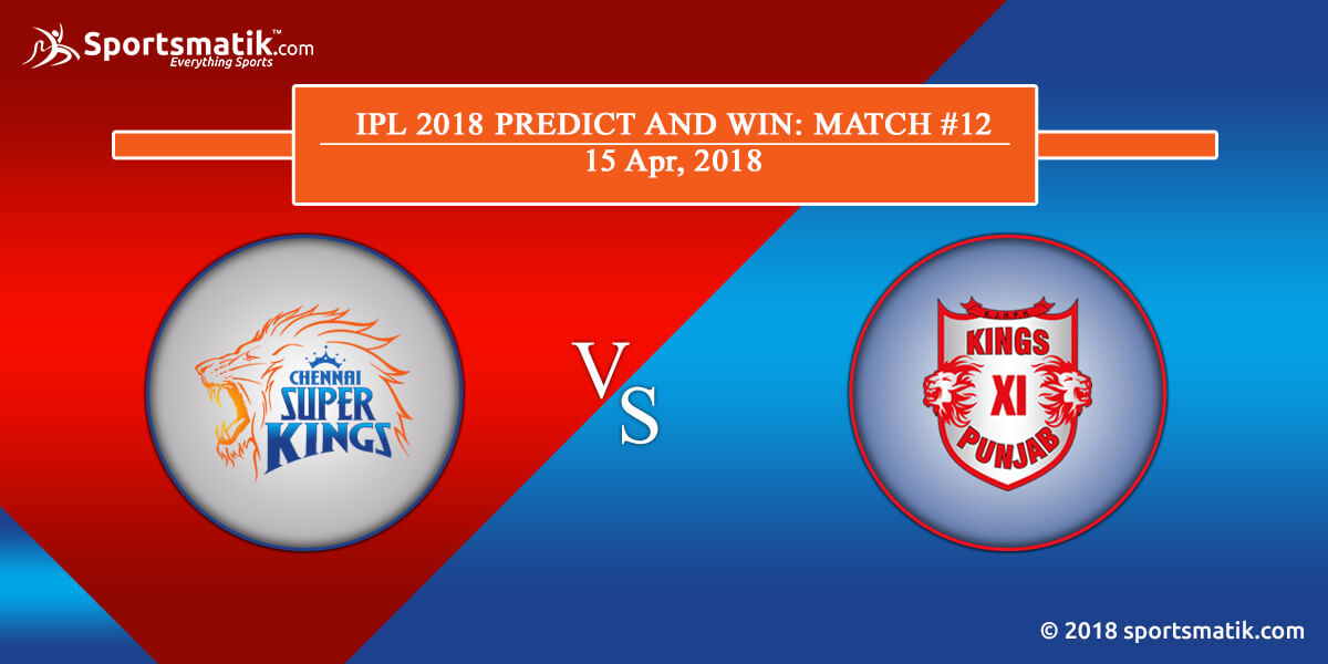 IPL 2018 Predict and Win: Match #12