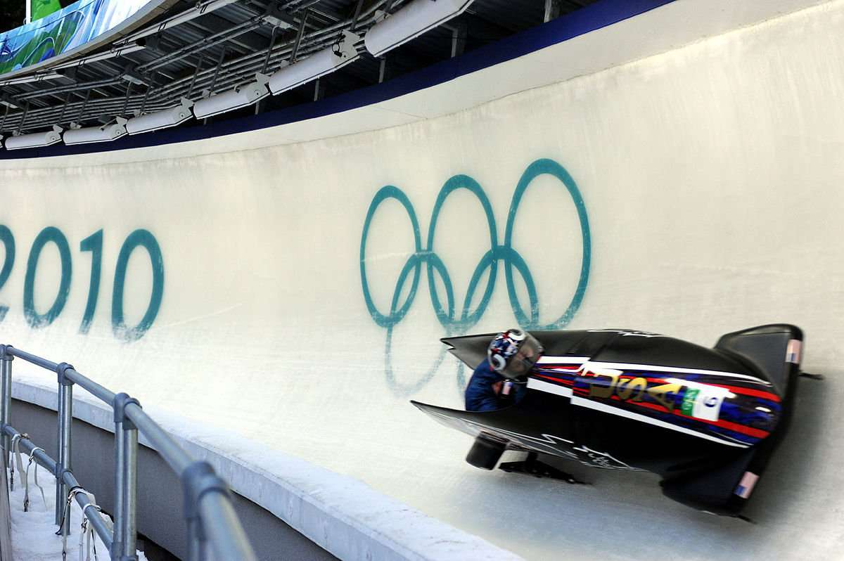 Bobsleigh ice track