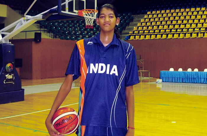 Poonam Chaturvedi : The tallest basketball player of the Indian Women's Basketball Team