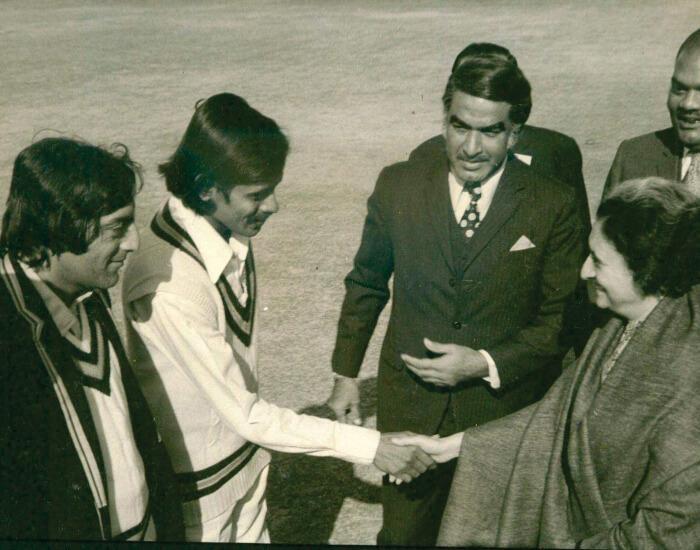 NAwab Pataudi and Former Prime Minister Indira Gandhi