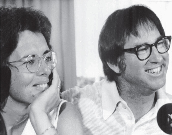 Billie Jean King with Bobby Riggs rare image