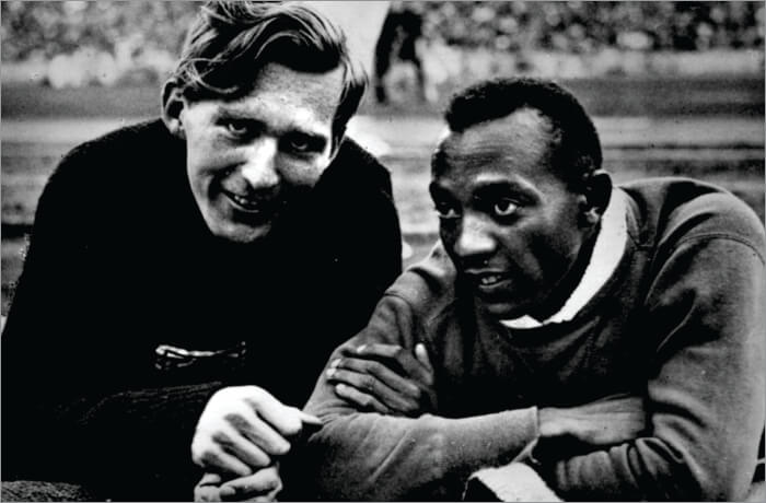 Luz Long and Jesse Owens- 1936 Berlin Olympics
