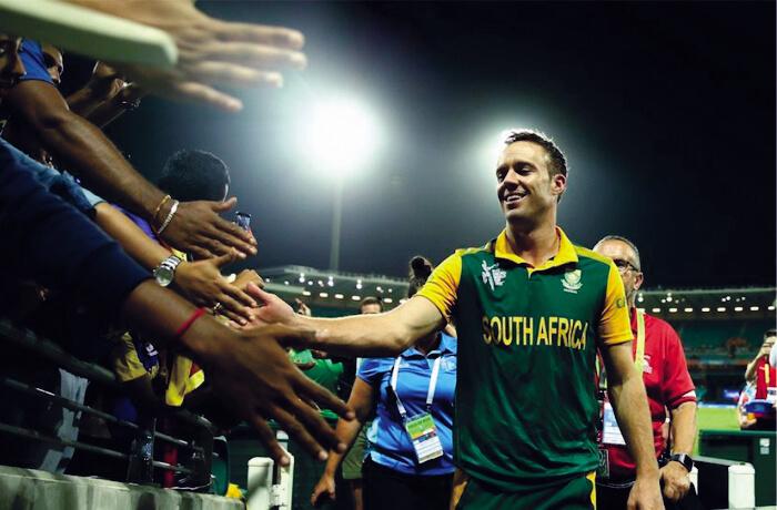 A B de Villiers South African Batsman rare image