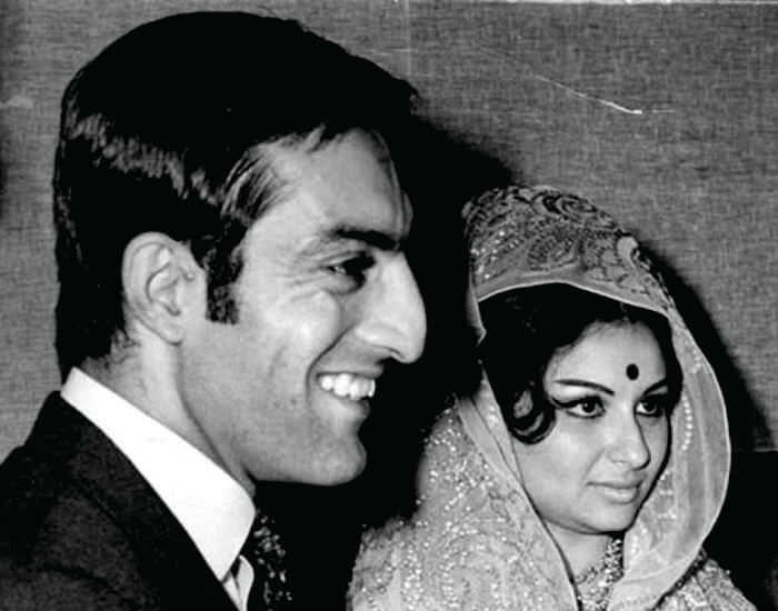 Nawab Pataudi and wife Sharmila Tagore bollywood actress rare pic