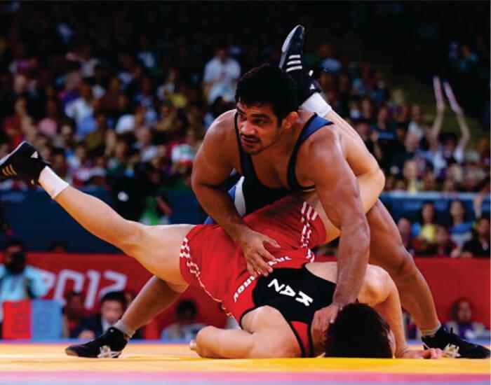 Sushil Kumar wrestling bouts