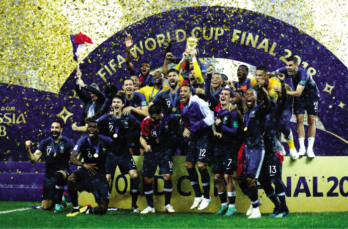 The national Football team of France won the World Cup