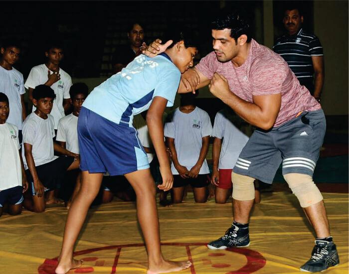 Sushil Kumar wrestling academy