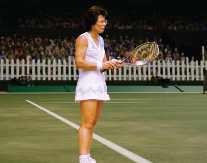Billie Jean King tennis player rare image