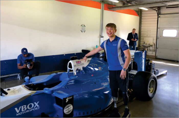 F3 racer Billy Monger back on the racing track