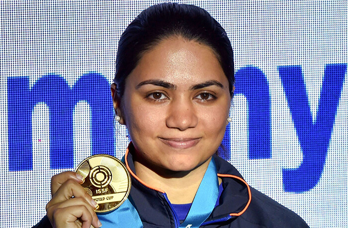 Apurvi Chandela claims gold medal at the ISSF World Cup 2019 rare image