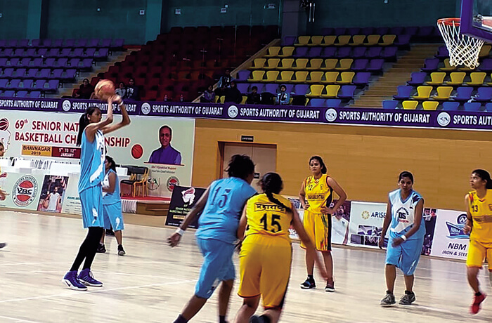 Poonam Chaturvedi rules the basketball court with her height