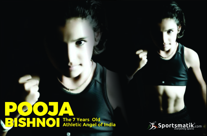Pooja Bishnoi- A little girl with six pack abs