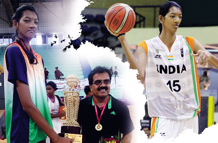 Poonam Chaturvedi is the tallest national basketball player
