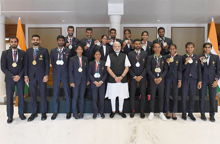 India's athletic team at the Asian Games
