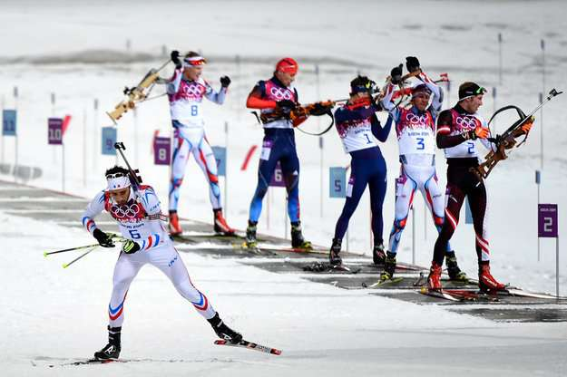 Biathlon race course