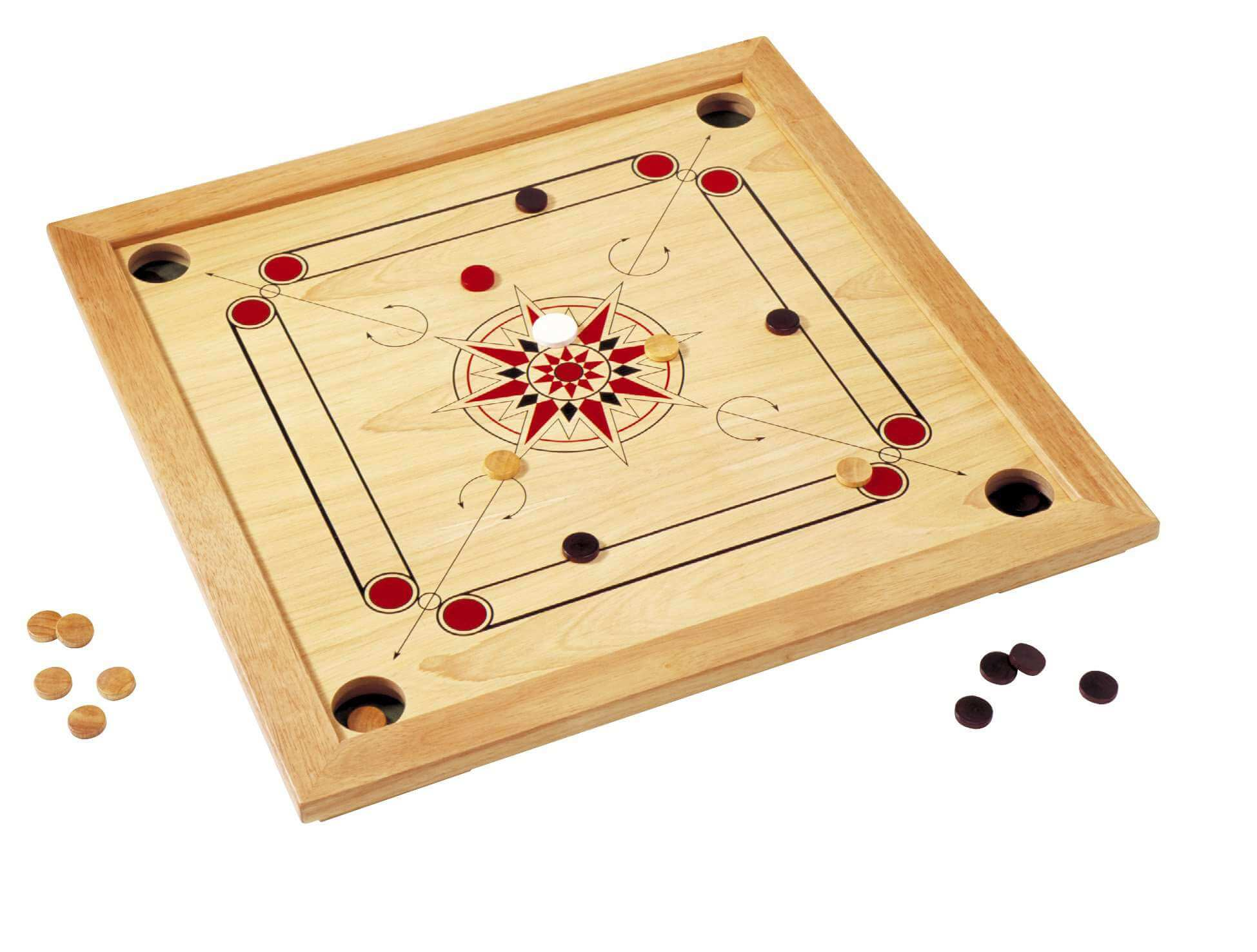 playing carrom board