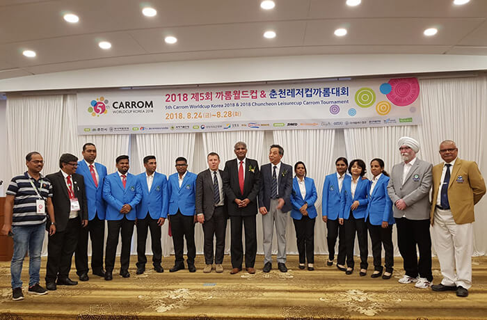 Indian Carrom Team at the 5th Carrom World Cup 2018