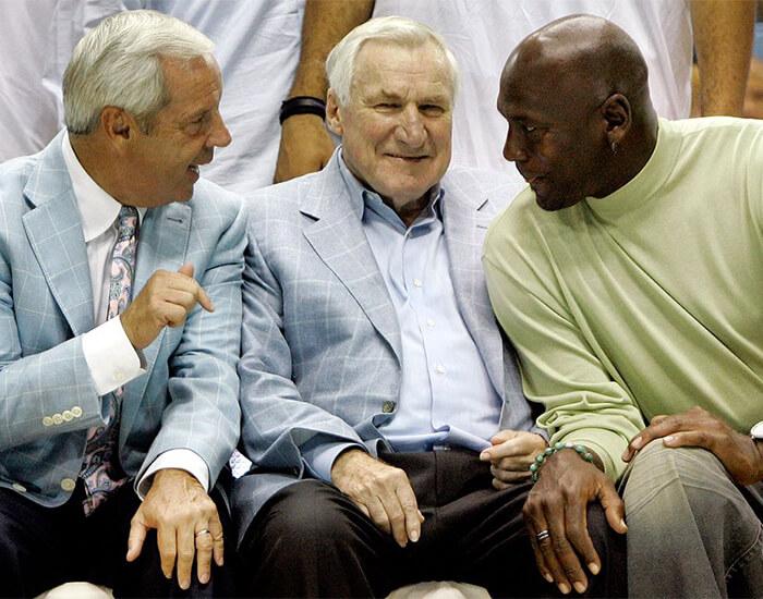Roy Williams, Dean Smith and Michael Jordan