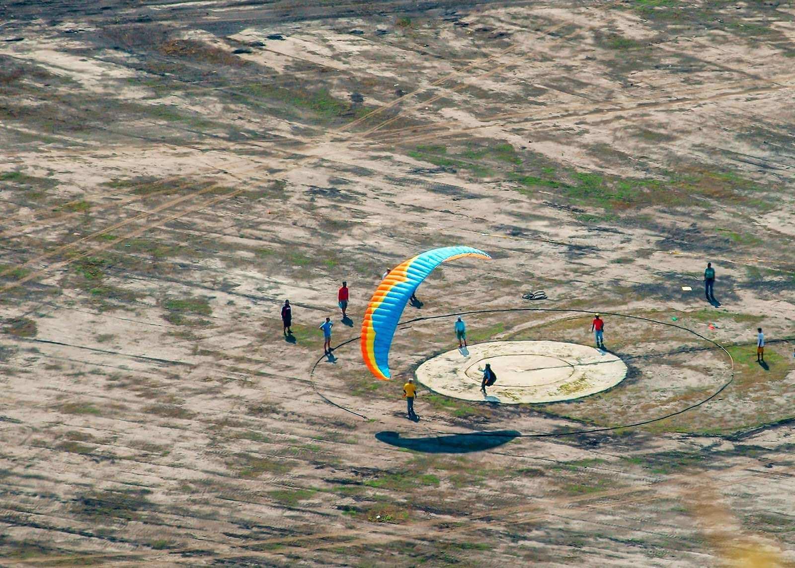 Paragliding landing area