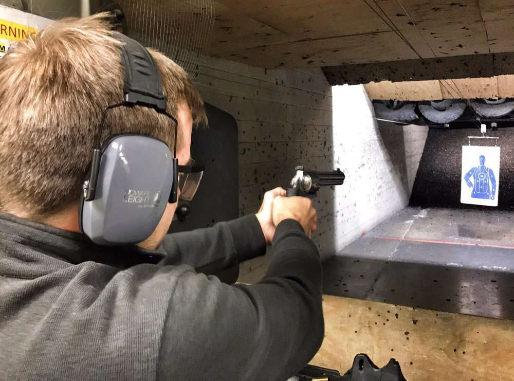 Indoor Pistol Shooting Range