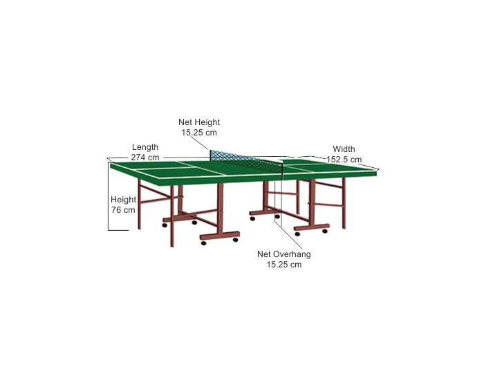 table tennis table measurement
