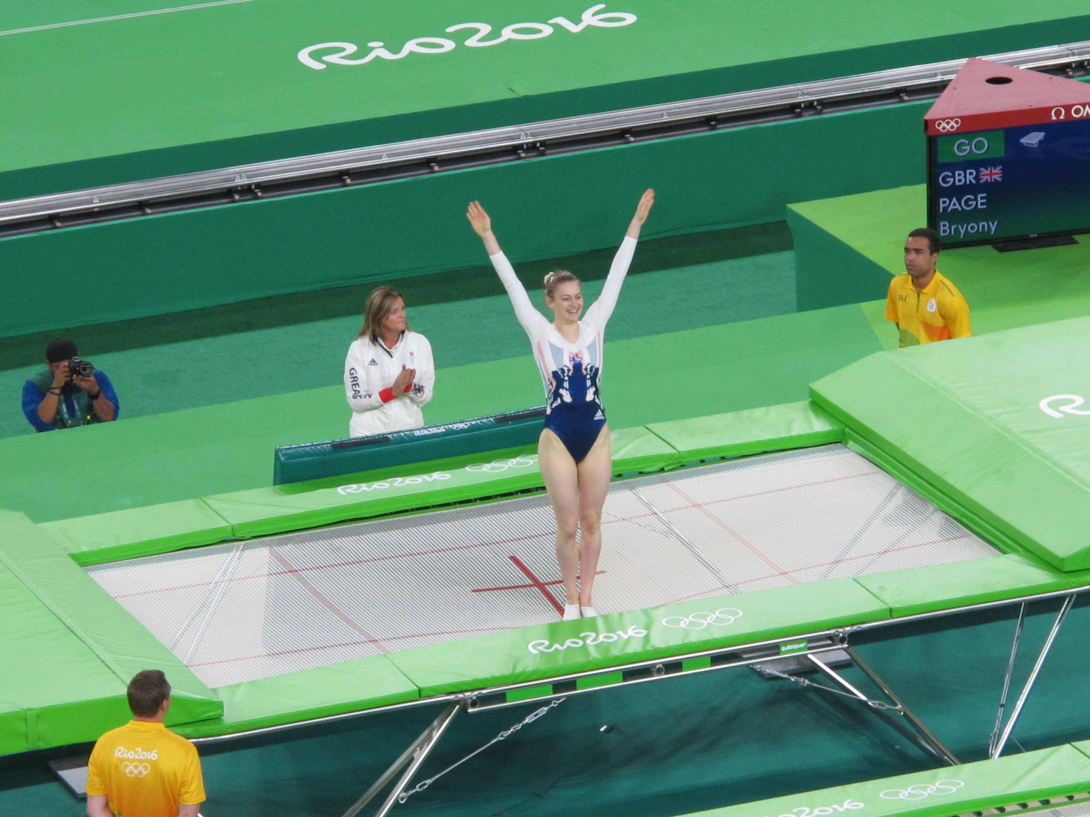 trampoline gymnastics arena