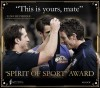 Luke Beveridge  Winner of the Spirit of Sport Award