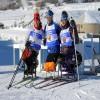 Para-cross country skiers