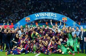 Barcelona winning UEFA Champions League
