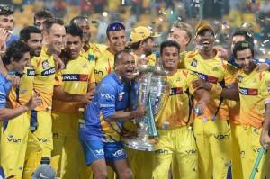 Chennai Super Kings Celebrate in Champion League
