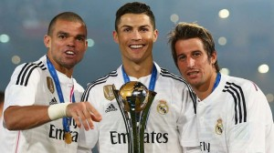 Real Madrid players with Fifa Club World Cup