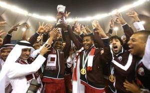 Qatar celebrates Won Gulf Cup