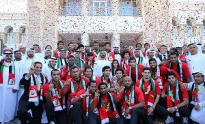 Mohammed bin Rashid receives champions of Gulf Cup