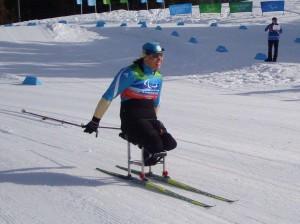 Paralympic ski sitting