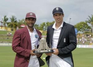 Denesh Ramdin and Alistair Cook
