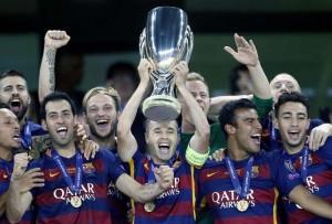 barcelona wins uefa super cup lionel messi