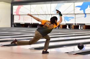 Esther Cheah of Malaysia competing in 41st Hong Kong International Open Tenpin Bowling Championships