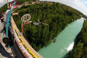 Bungee jumping near Nova Gorica