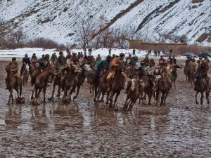 Buzkashi game in afghanistan
