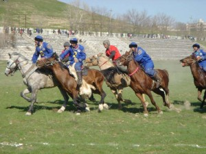 Buzkashi players in Afghanistan
