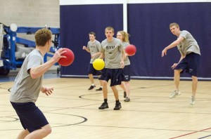 Youngsters playing Dodgeball