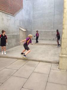 Kids playing the eton fives