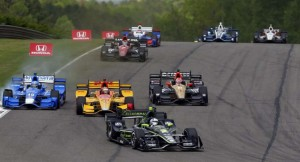 Josef Newgarden leads in Indy Grand Prix