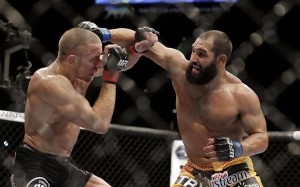Johny Hendricks and Georges St. Pierre