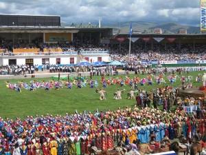 Naadam ceremony in Ulaanbaatar